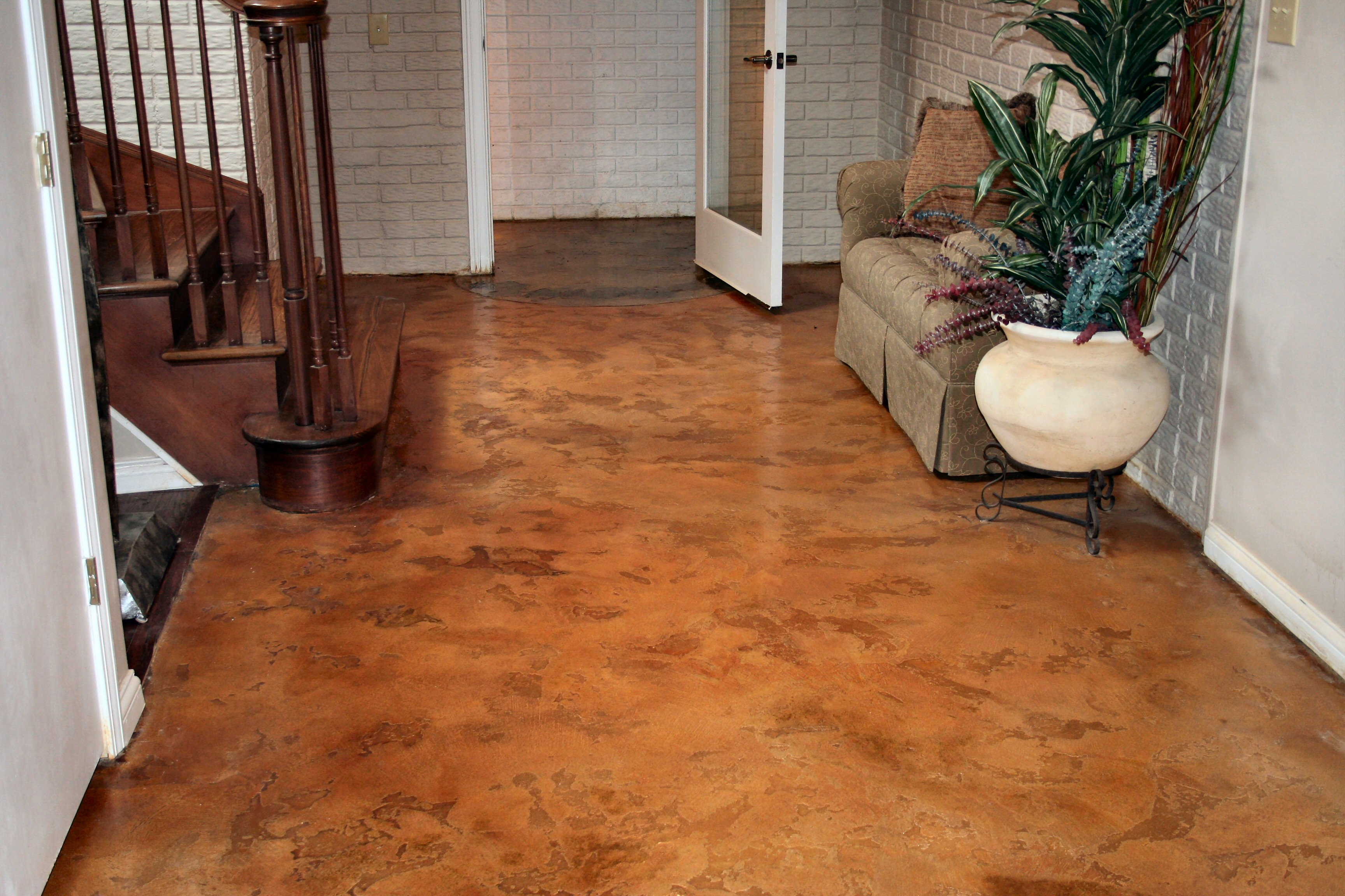 Concrete gallery crete rite llc concrete services How to stain interior concrete